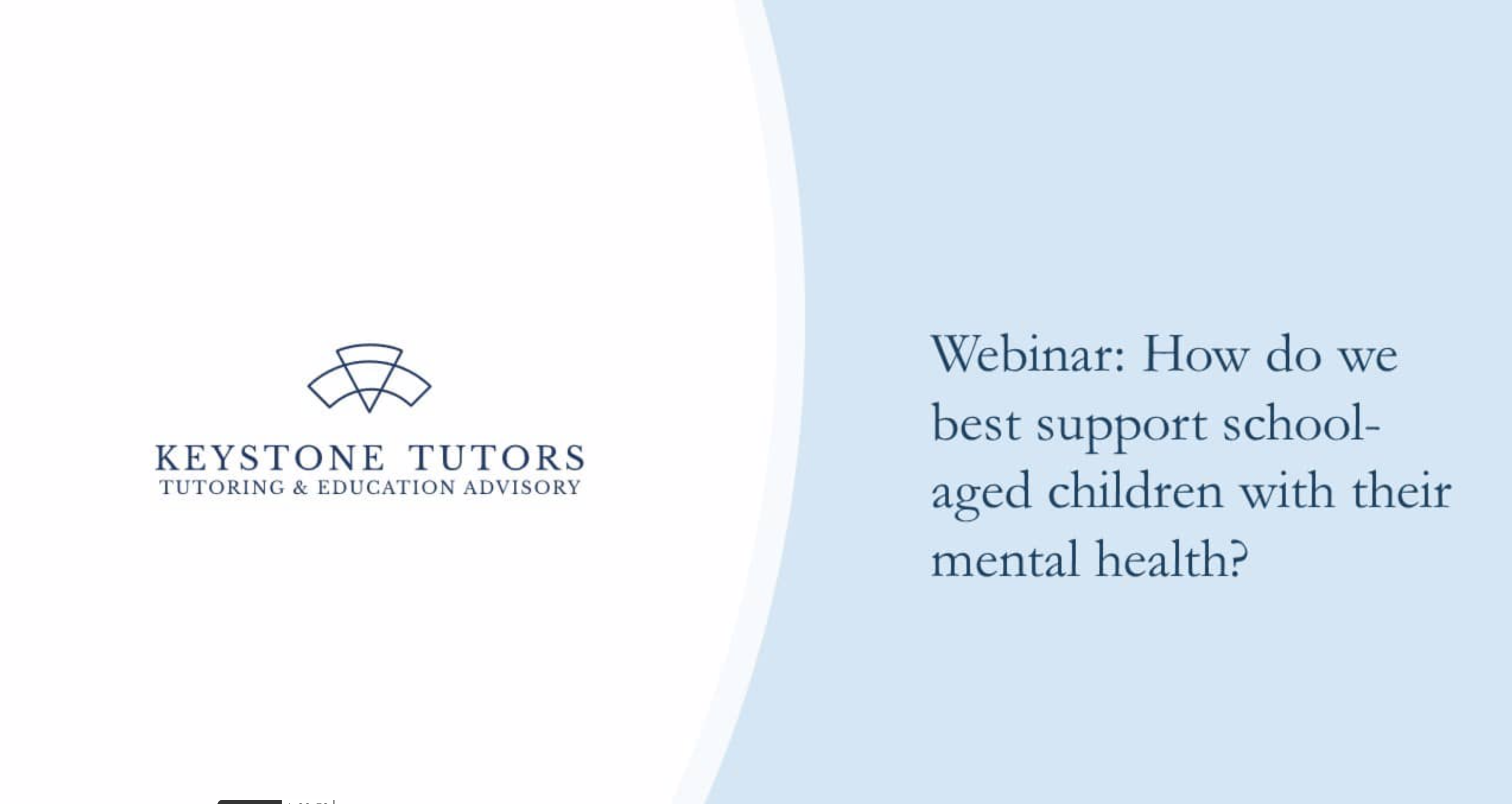 How do we best support school-aged children with their mental health? (Webinar)
